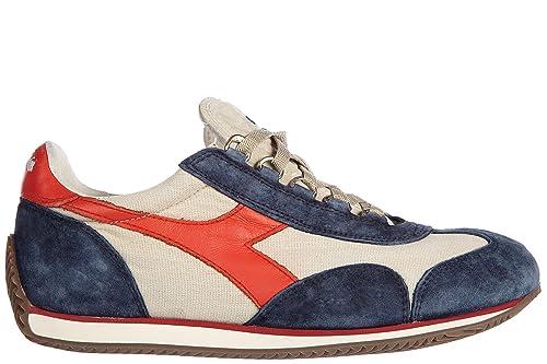 Diadora Heritage Scarpe Sneakers Uomo camoscio Nuove Equipe Stone Vintage  Blu  Amazon.it  Scarpe e borse fa3b4098fee