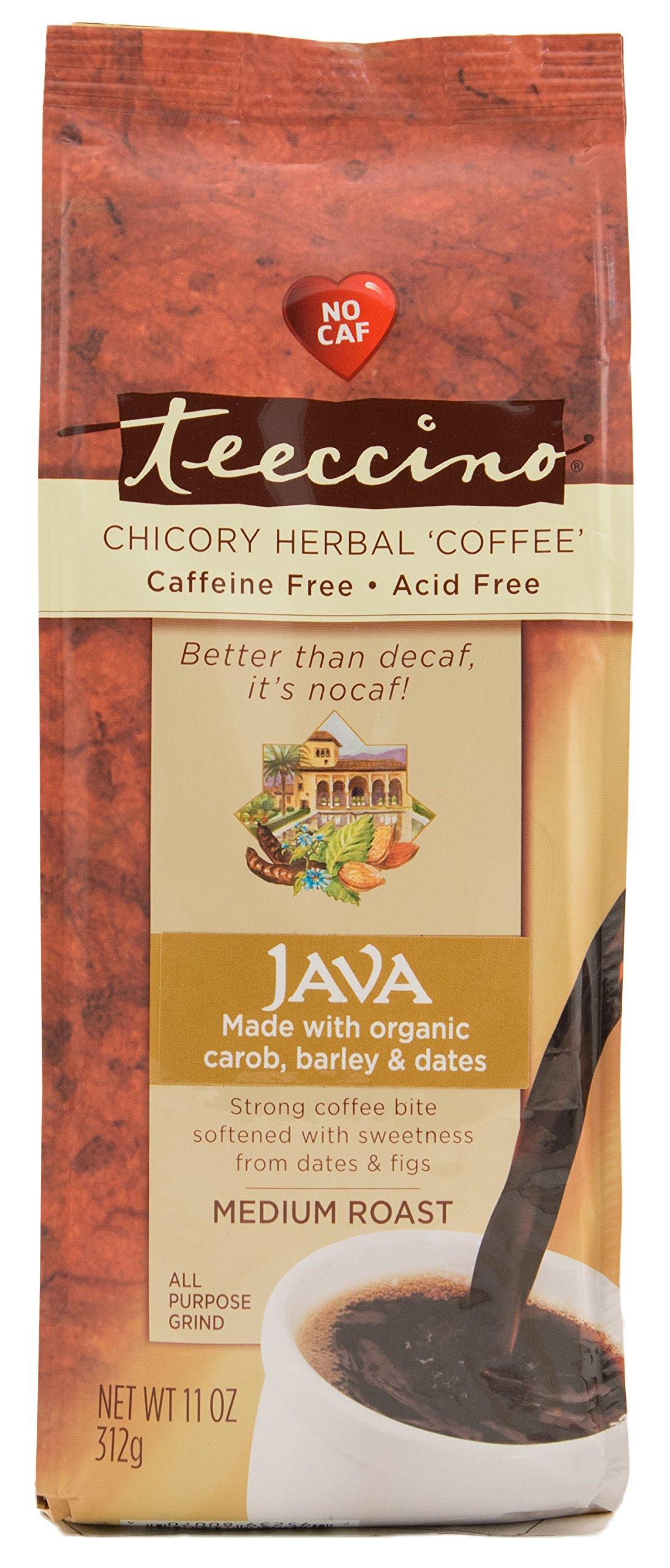 Teeccino Java Chicory Herbal Coffee Alternative, Caffeine Free, Acid Free  11 Ounce (Pack of 3)