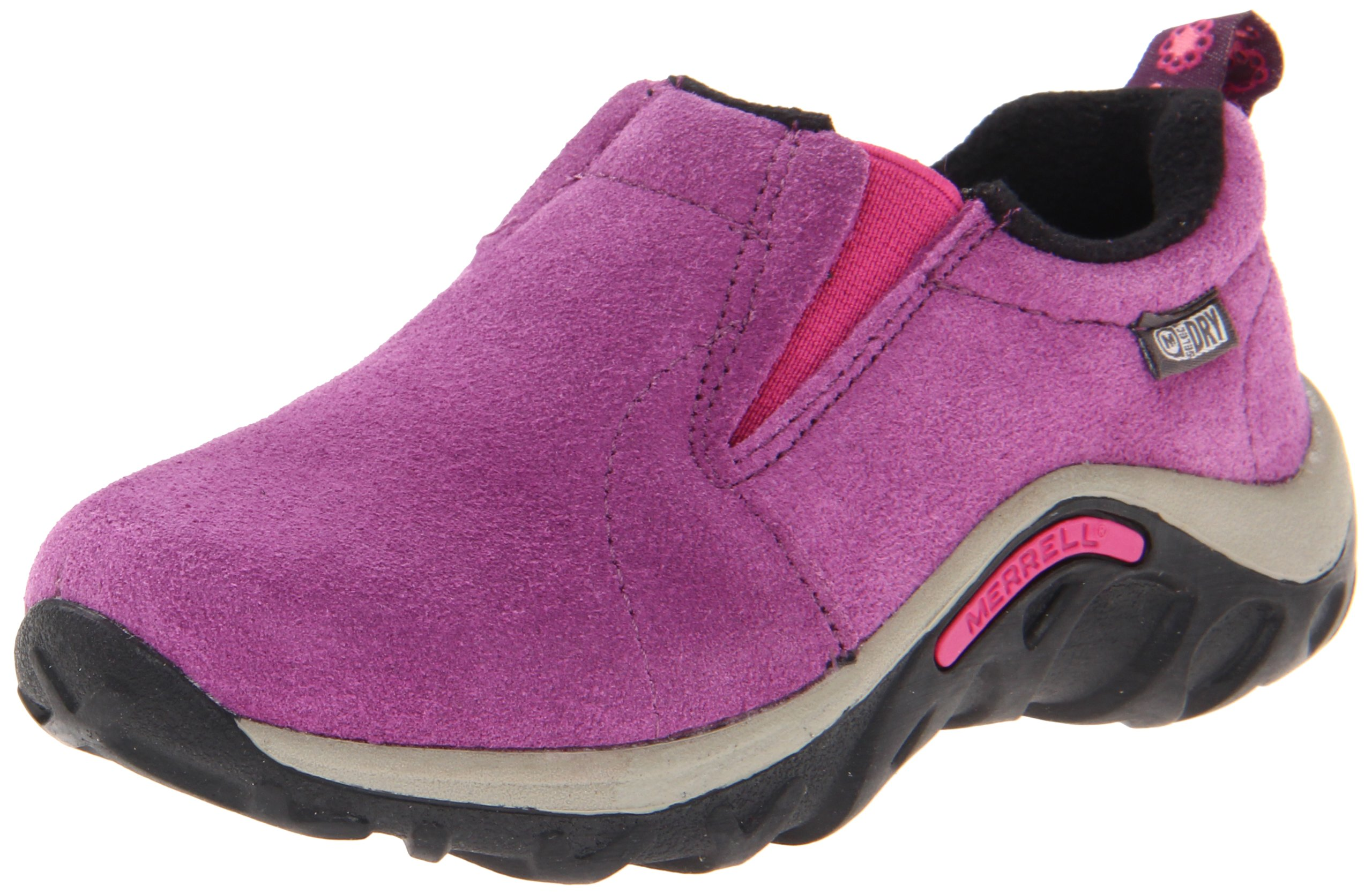 Merrell Jungle Moc Frosty Waterproof Slip-On Shoe (Toddler/Little Kid/Big Kid),Wineberry,5.5 M US Big Kid