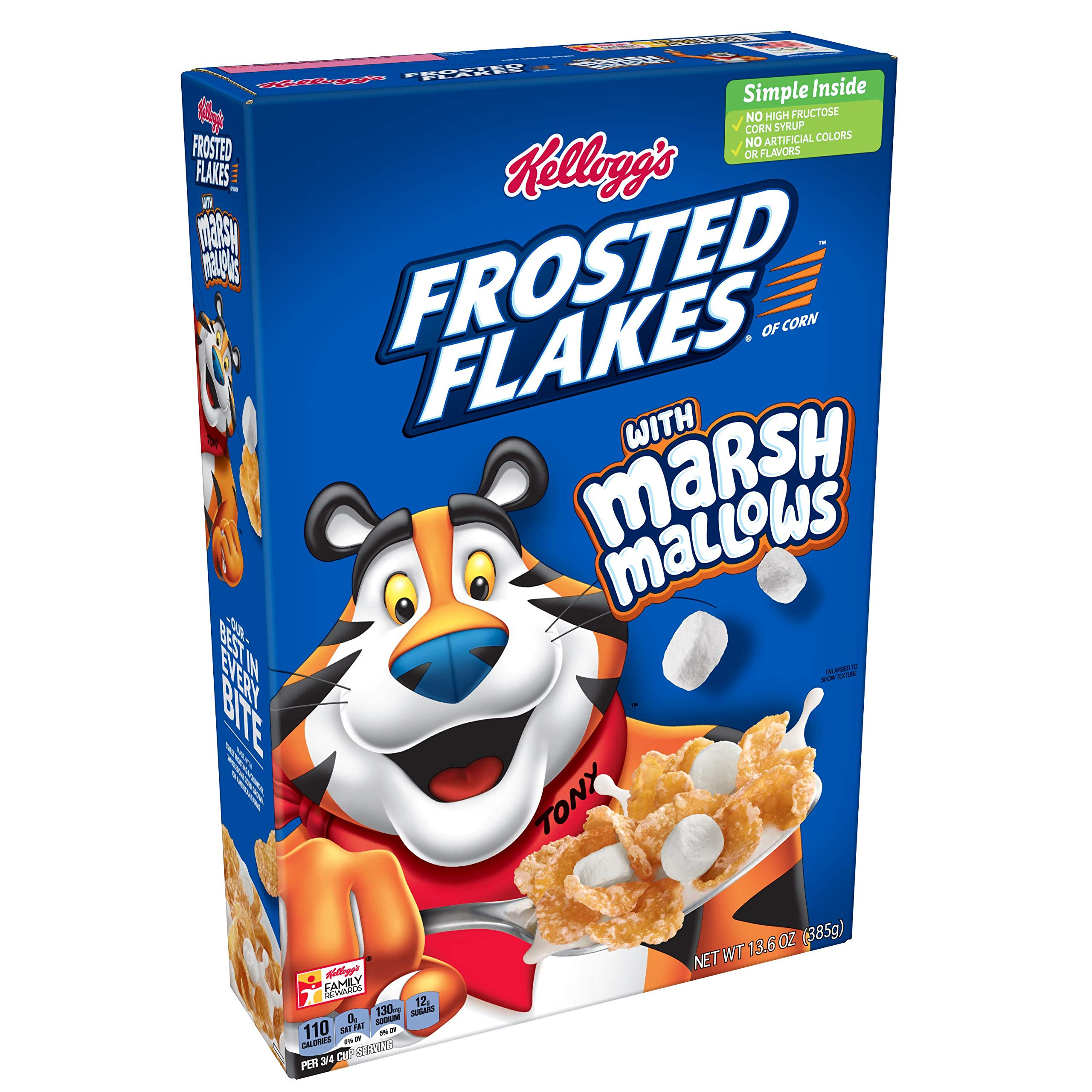 Frosted Flakes Cereals, Marshmallow, 16 Count