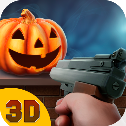 Halloween Holiday Pumpkin Shooter 3D: Crazy Halloween Pumpkin Smash Shooting Game | Halloween Hangman Pumpkin Gun Shooting -