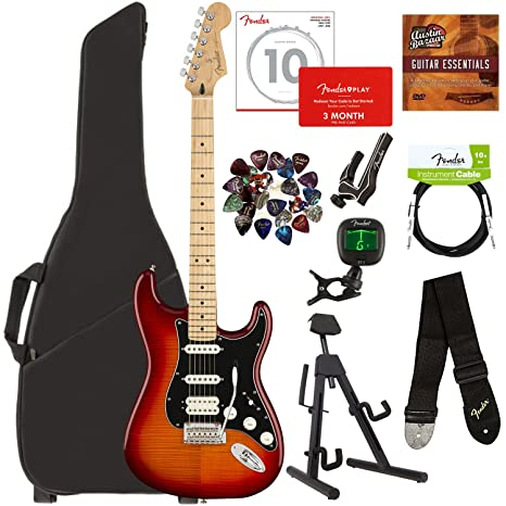 Fender Player - Lote de guitarras con bolsa para guitarra