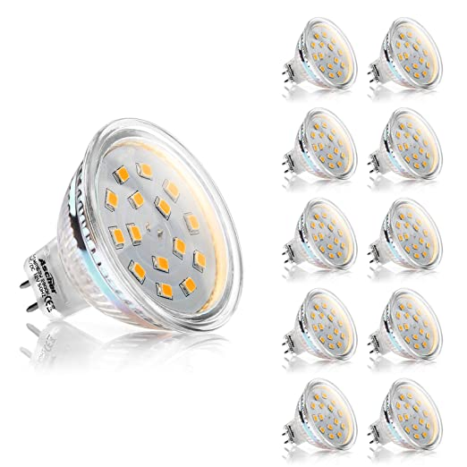 Ascher 10er Pack MR16 GU5.3 3W LED Lampe - vgl. 30W Halogen - 270LM ...