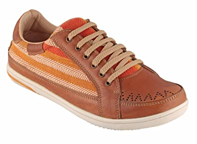 449d4851c4e0 tZaro Genuine Leather Sneaker - Tan Loom  Buy Online at Low Prices in India  - Amazon.in