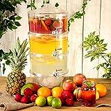 3 - Tier Drink Dispenser 10.5ltr | bar @ bevanda roba Tiered Beverage Dispenser, Dispenser succo, Punch Dispenser, Dispenser Lemonade