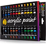 Colore Acrylic Paint Set - Perfect For Painting Canvas, Clay, Fabric, Nail Art And Ceramic - Rich Pigments With Lasting Quality - Great For Beginners, Students & Professional Artist - 24 Colors