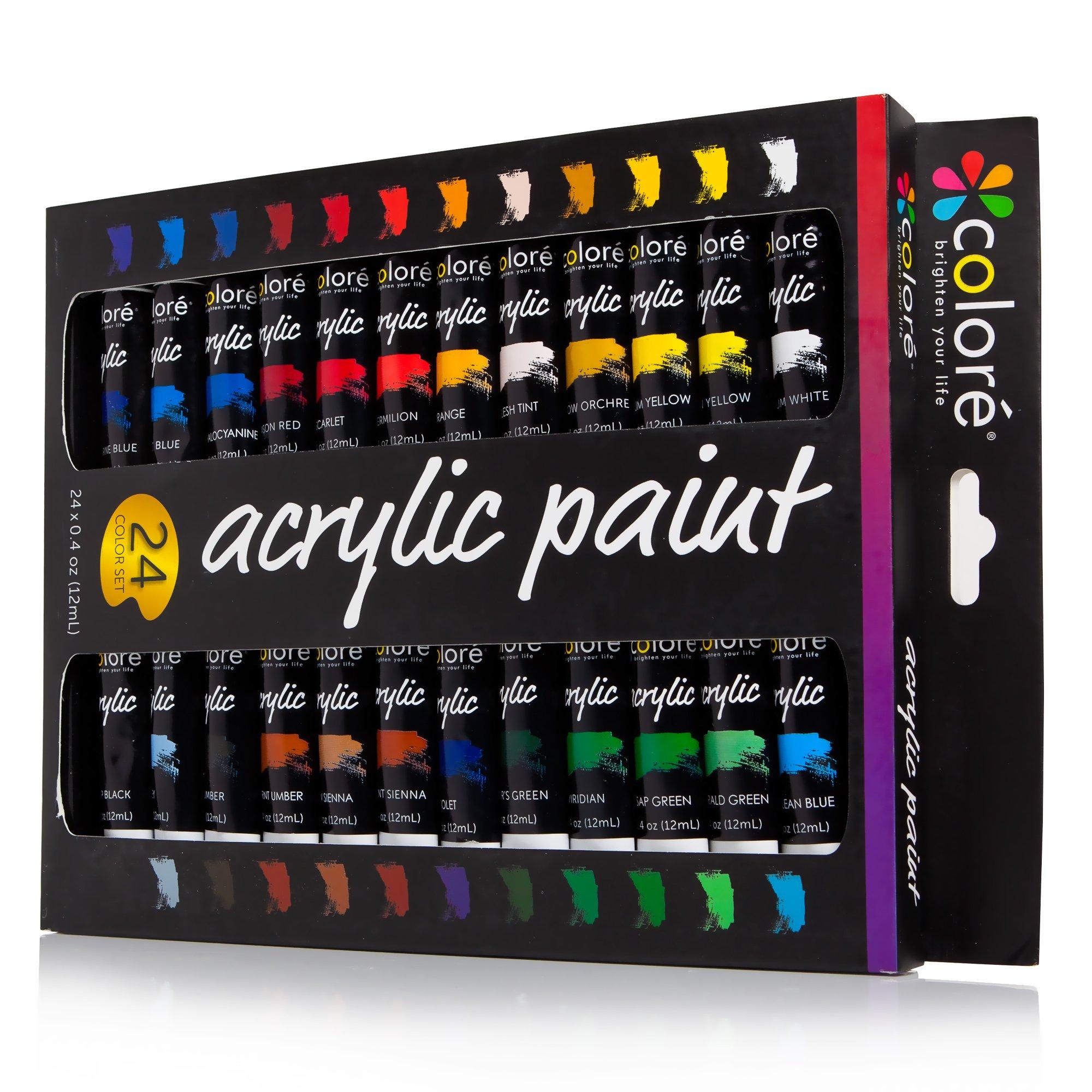 Colore Acrylic Paint Set - 24 Colors by Colore