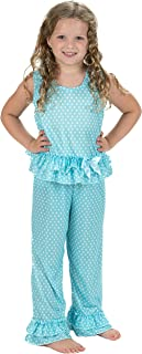 product image for Laura Dare Baby Girls All The Rage Blue Ruffled Jumpsuit