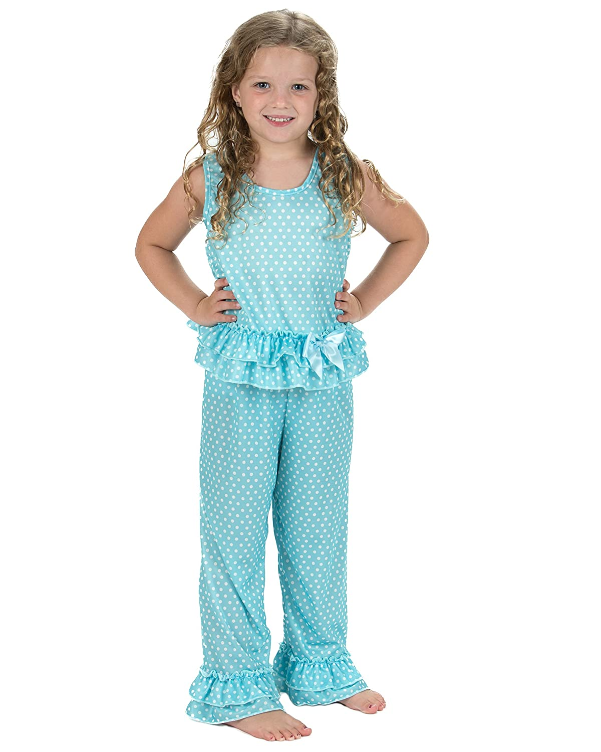 Laura Dare Little Girls All The Rage Blue Sleeveless Pajamas