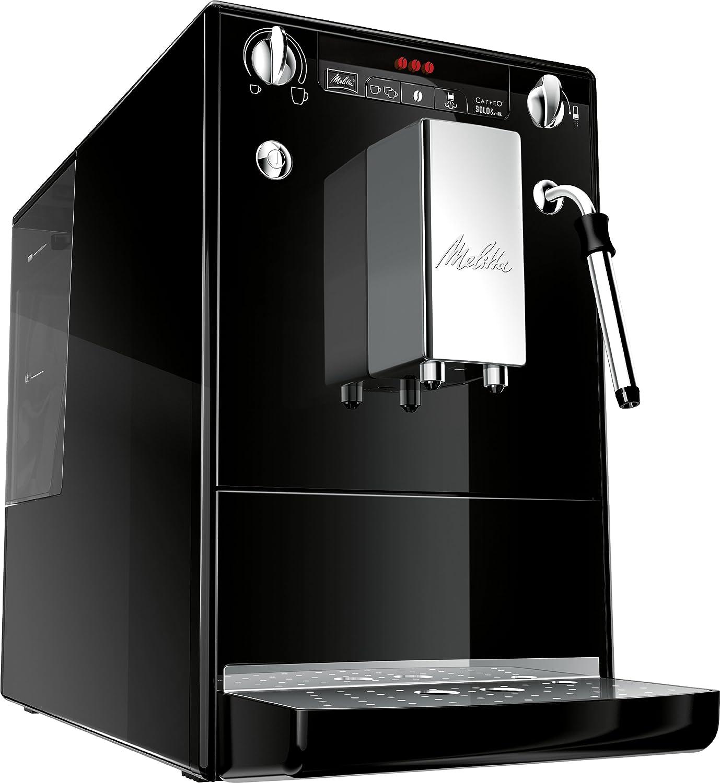 Melitta 953-101 - Cafetera automaticá (1.2L, 15 bar, 1400 W), con molinillo integrado, espumador de leche, negra: Amazon.es: Hogar