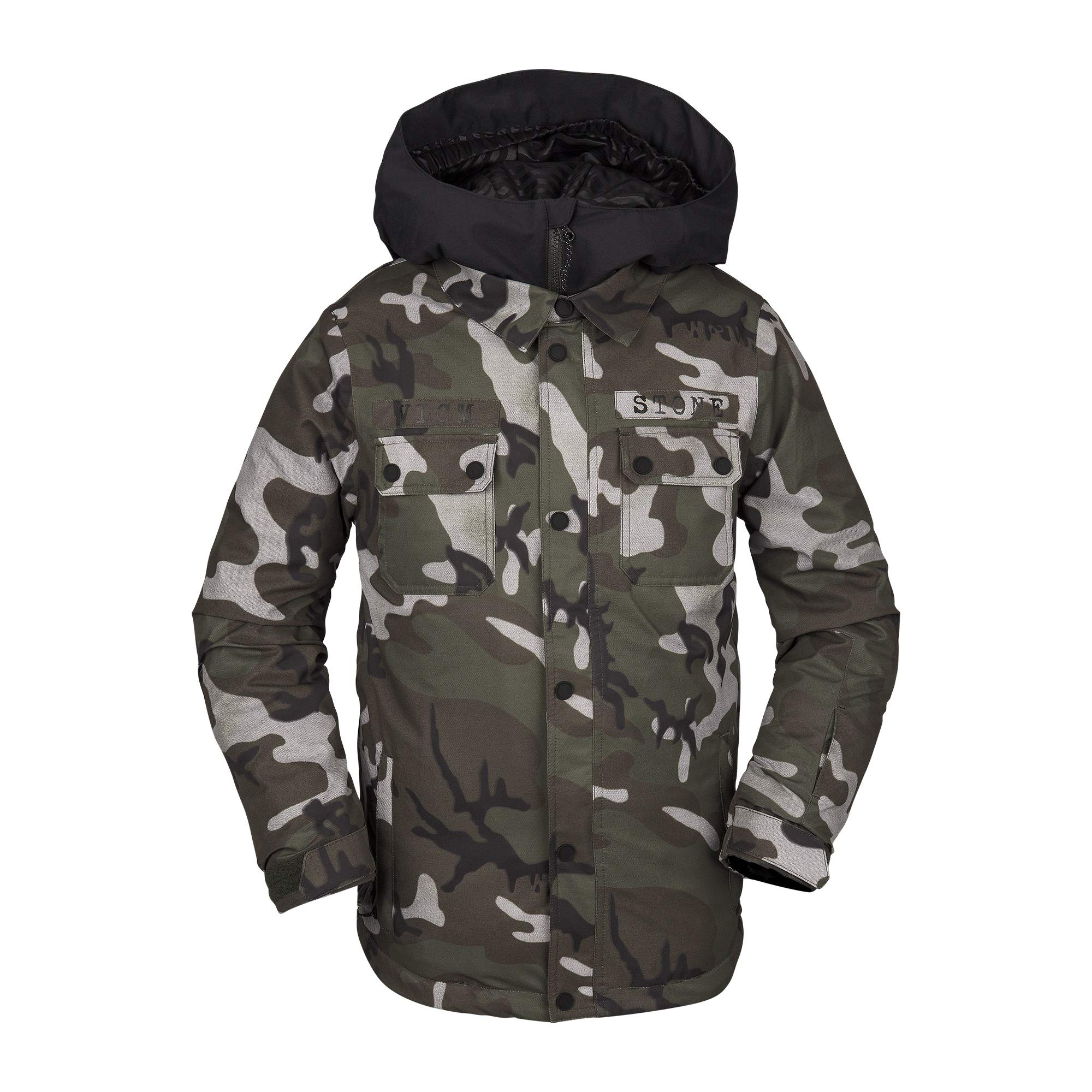 Volcom Boys' Big Neolithic Insulated 2 Layer Shell Snow Jacket, gi Camo, Extra Small by Volcom
