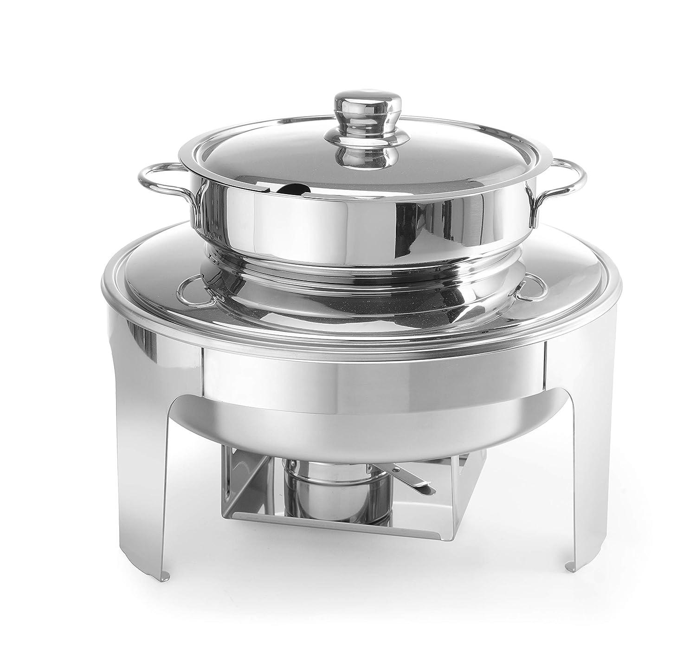 Chafing dish à soupe finition poli mirroir
