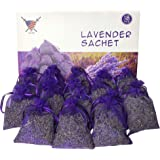 Armour Shell Lavender Sachets - Dried Lavendar Flower Sachet Bags (18 Pack) for Home Fragrance and Long-Lasting Fresh Scents,