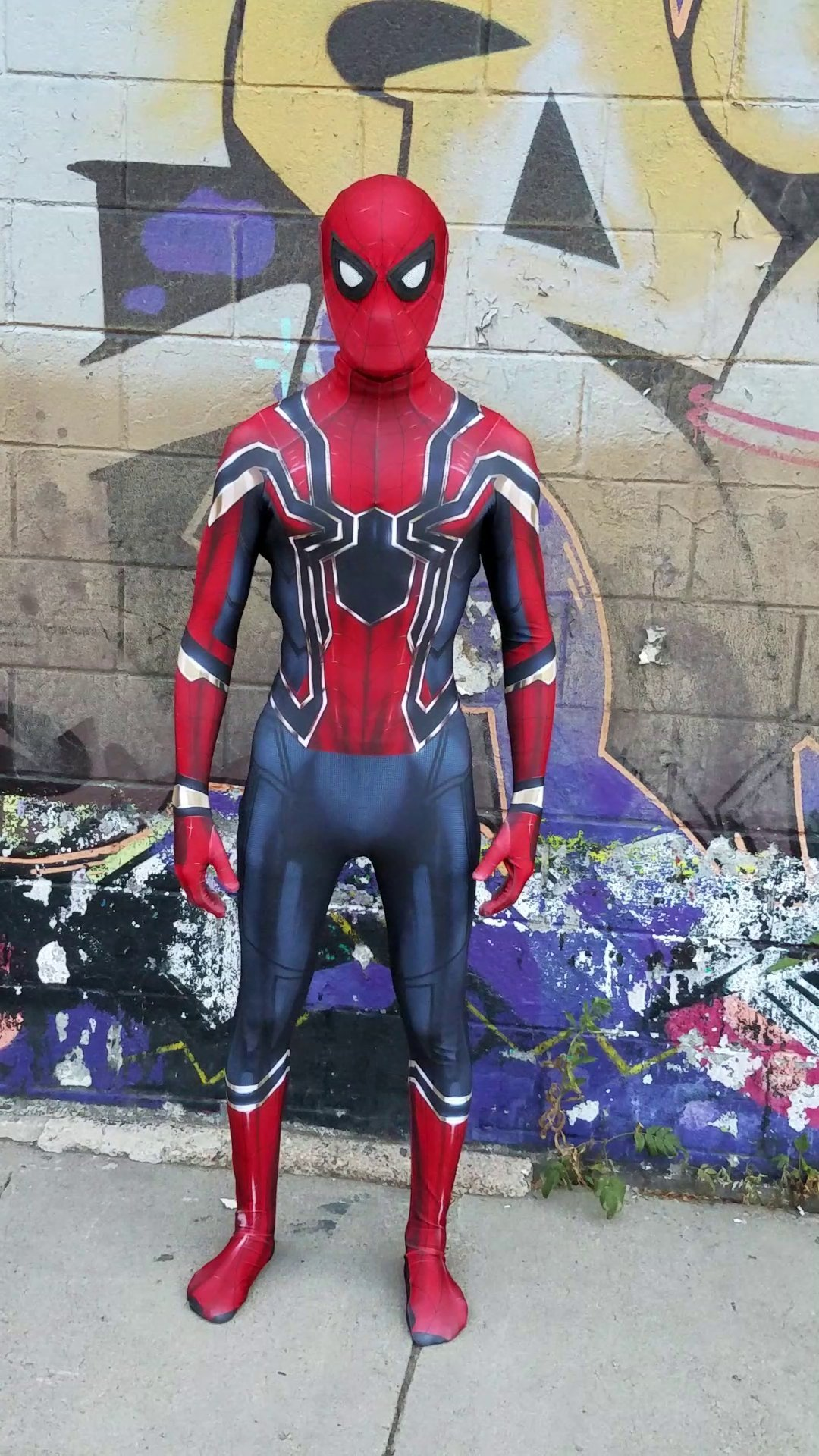 Iron Spider Spider-Man Homecoming Suit by Aesthetic Cosplay w/ Mask & Lenses | Homecoming Spider-Man XS