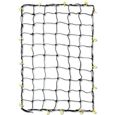 Tooluxe 50969L Adjustable Cargo Net, 36 x 60-Inch | 16 Sturdy Nylon Hooks | Ideal for Moving, Camping, and Trucks - Automotive Cargo Nets - .com