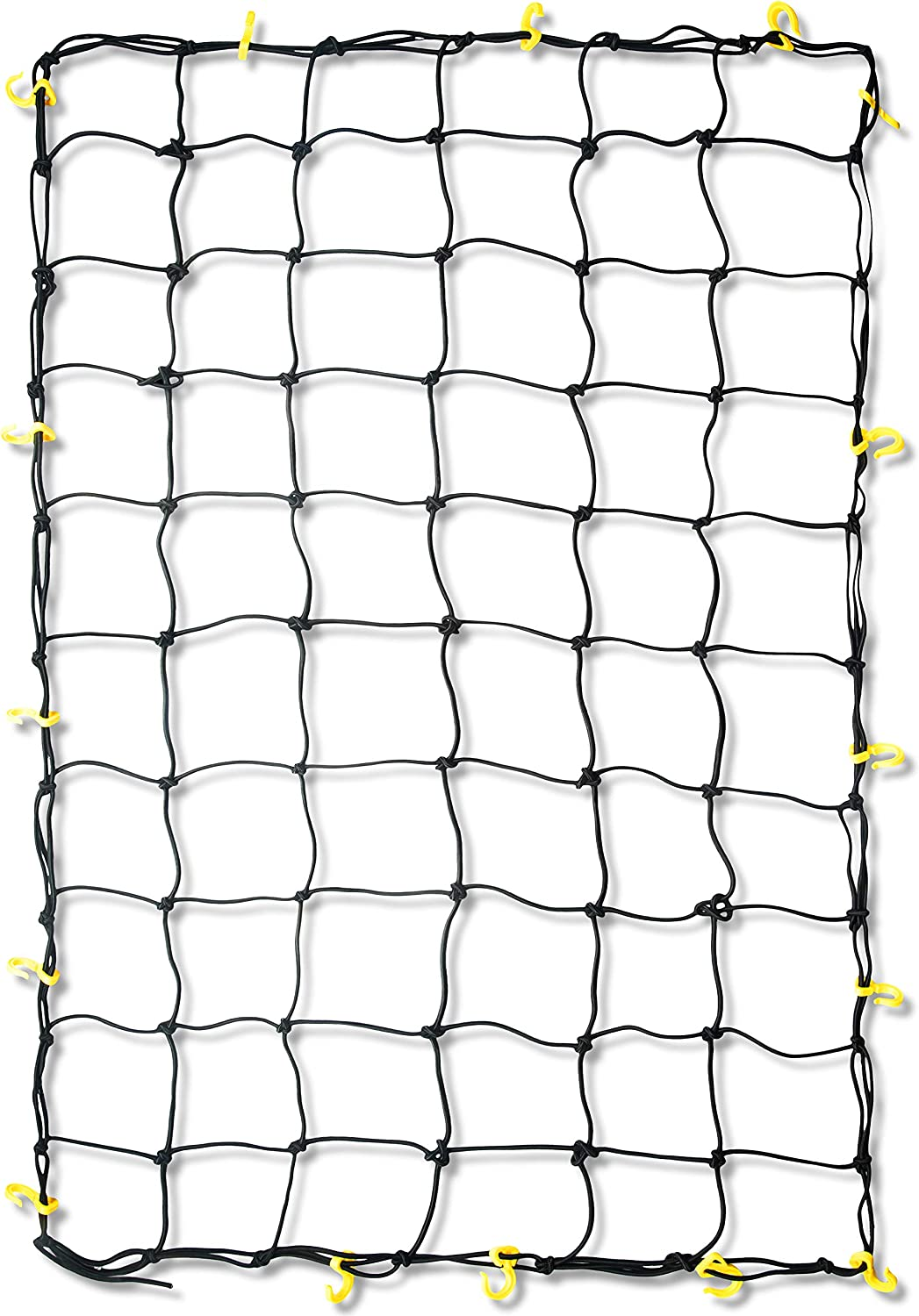 2 Pack of Black 15X15 Cargo Net Featuring 6 Adjustable Hooks /& Tight 2x2 Mesh Red 2 Pack