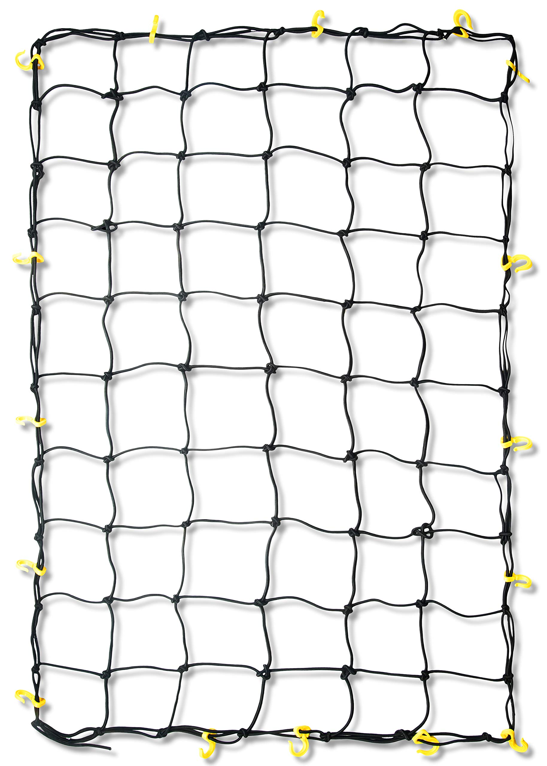 TOOLUXE 50969L Adjustable Cargo Net | 3' x 5' | 16 Sturdy Nylon Hooks | Ideal for Moving, Camping, and Trucks