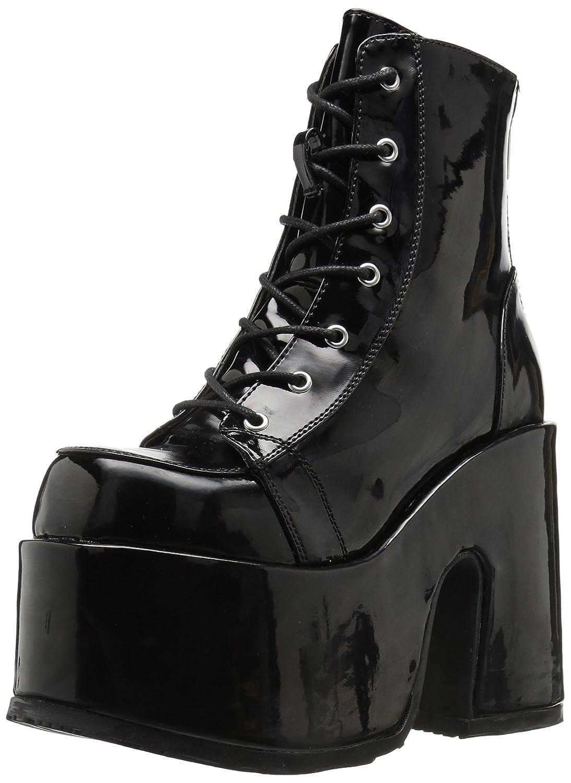 Demonia Women's Camel-203 Ankle Boot B071G959XP 10 B(M) US|Black Patent