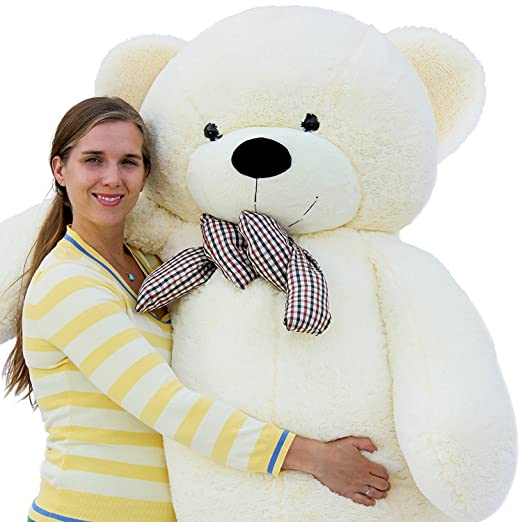 Frantic Premium Quality Soft Plush Teddy Bear White -4 Feet