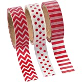 Red Washi Tape Assortment - Crafts for Kids and Fun Home Activities