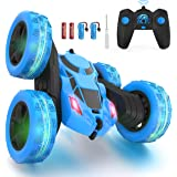 Hamdol Remote Control Car Double Sided 360°Rotating 4WD RC Cars with Headlights 2.4GHz Electric Race Stunt Toy Car Rechargeab
