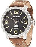Timberland Pinkerton hommes de montre à quartz avec affichage analogique cadran noir et bracelet en cuir marron foncé 14399x s/02