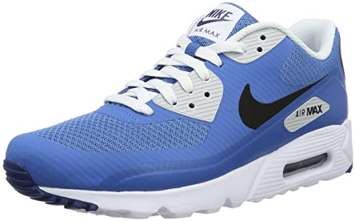 nike , herren Air Max 90 Schuhe Black White Blue