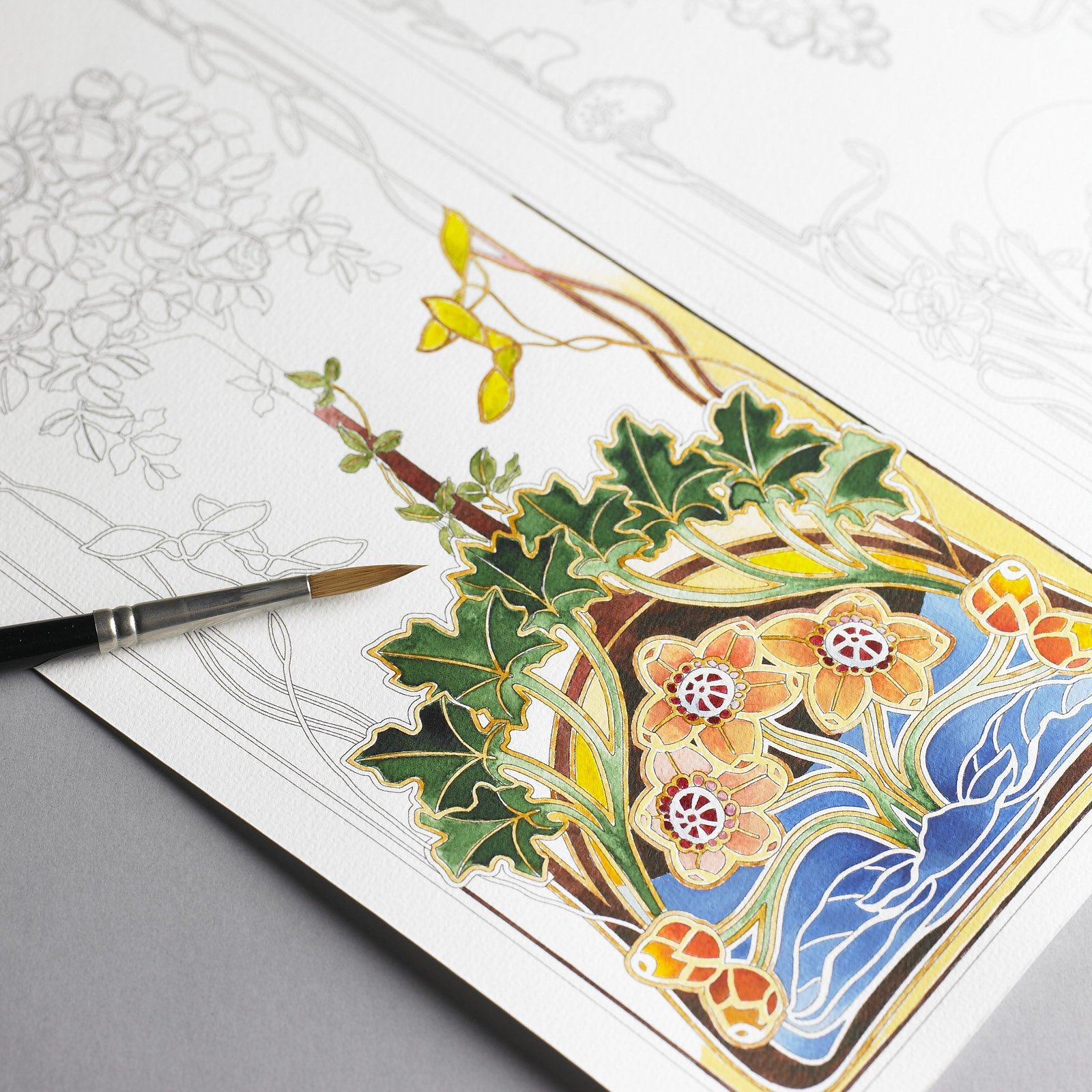 - Art Nouveau: Artist's Colouring Book (Multilingual Edition