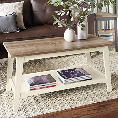 Amazoncom Better Homes and Gardens Bedford Coffee Table Ivory