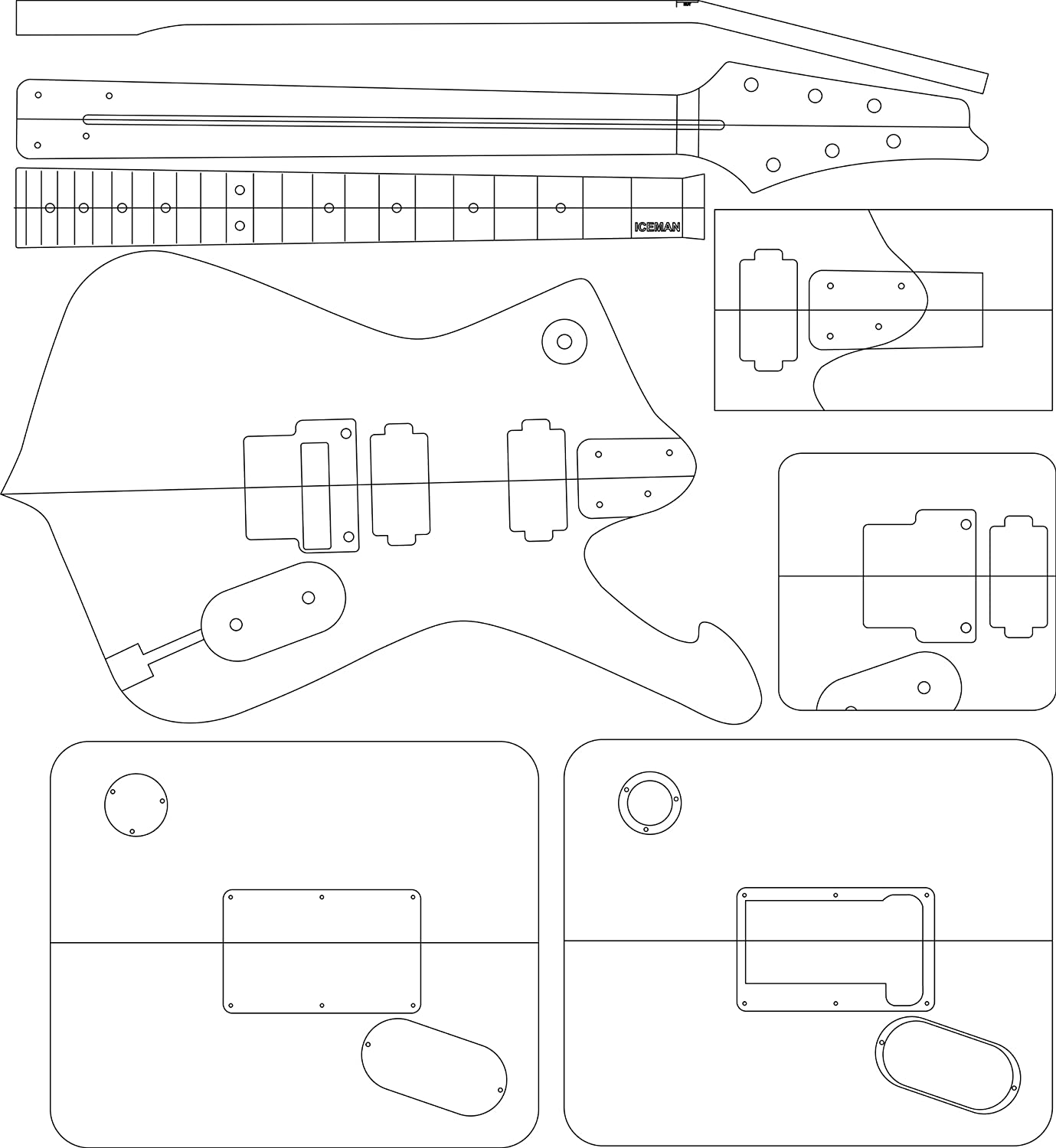 Great Electric Guitar Body Templates Photos >> Build Easy Your ...