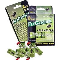 LIGHTSMAX Fly Catcher Trap, Fly Trap, Fly Bait, Fly Paper Ribbon, Sticky Fly Ribbons, Fly Paper Strips, Sticky Fly…