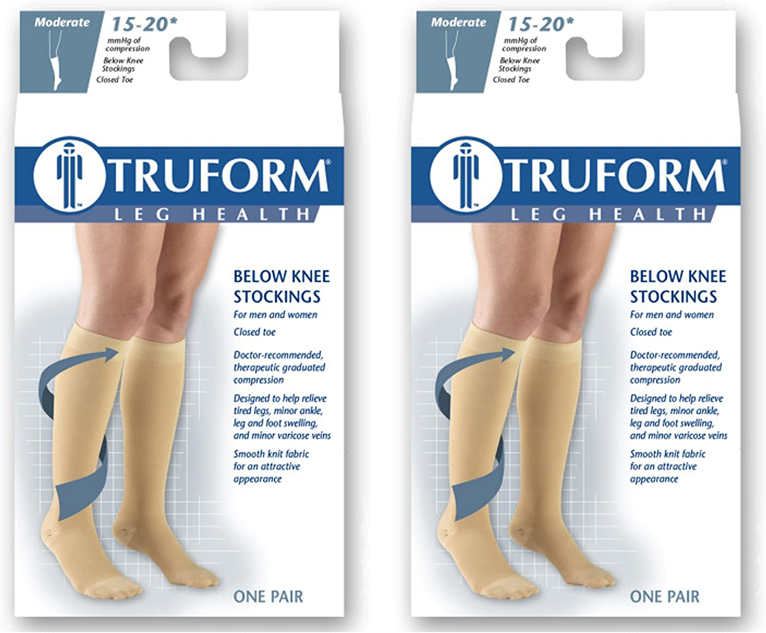 Compression Therapy Socks Knee High 1 Pair 15-20 mmHg For Diabetics /& Tired Feet