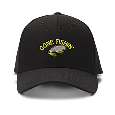 fishing baseball hats hardy cap gone embroidery adjustable structured hat black salmon embroidered caps