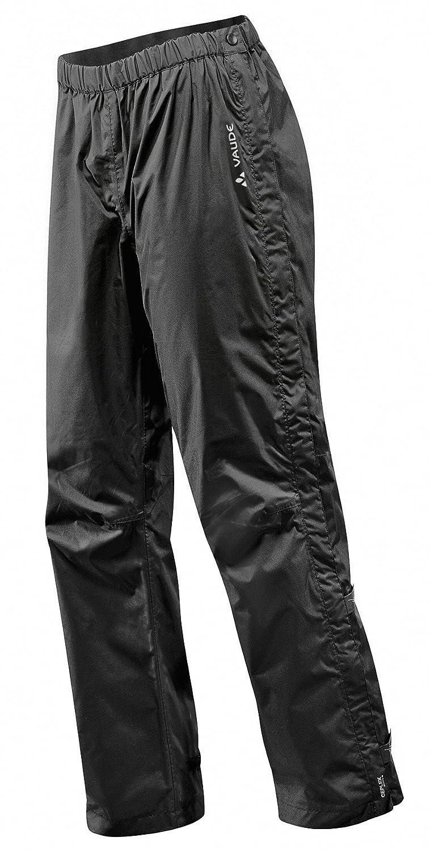 VAUDE Men's Fluid Full-zip Pants II  - Pantalones de Lluvia para Hombre, Negro, 54/XL