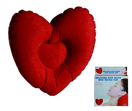 Cojín de baño hinchable con forma de corazón - Womans Lady mujer ...