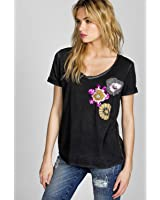 Miss Me Women's Mm Vintage Abstract Beauty Top - Vt104 Black