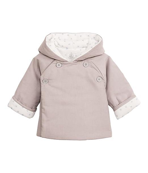 Petit Bateau - Abrigo con cuello barco de manga larga para bebé, talla 68 (