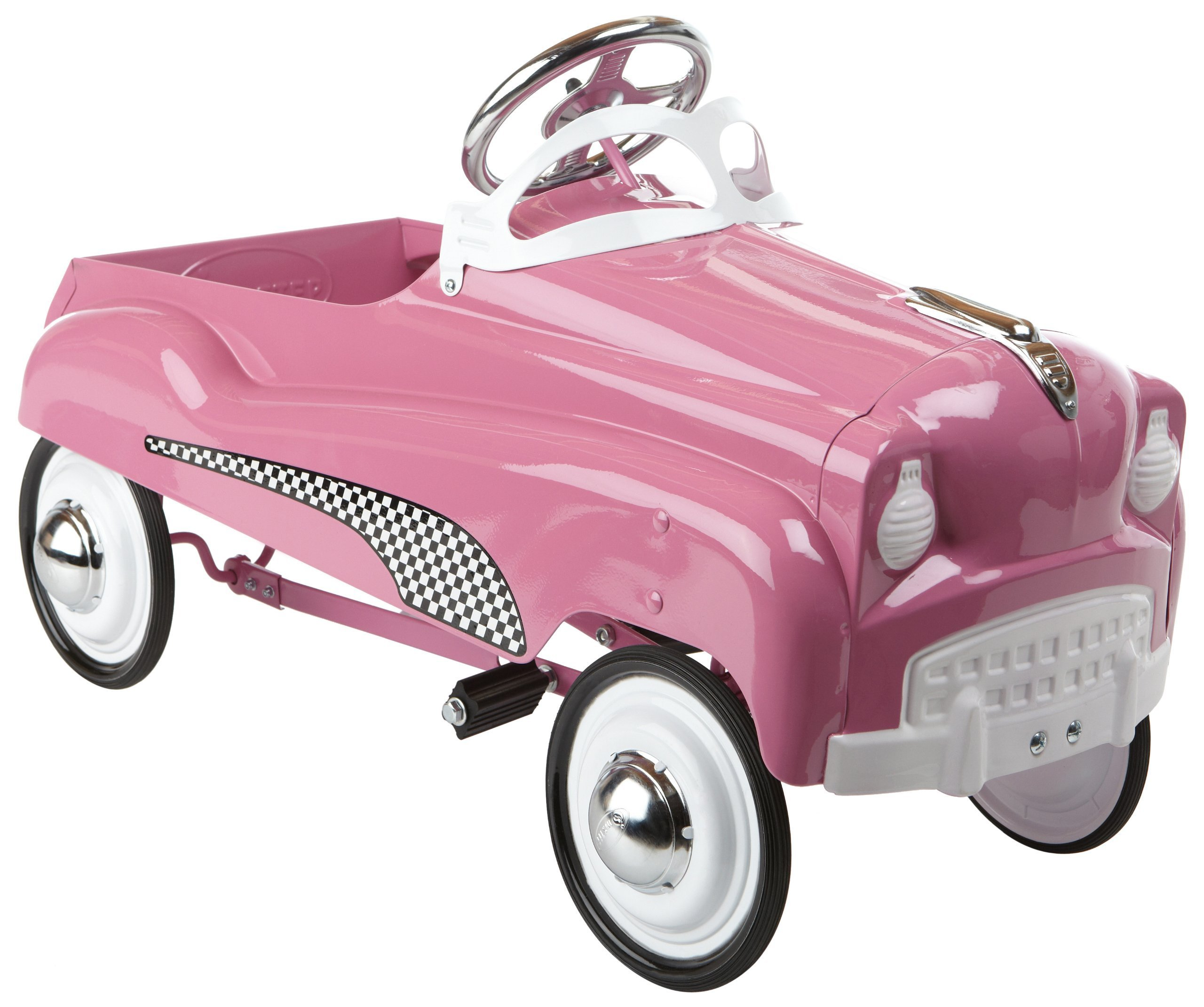 Pedal Car Riding Toy Cars Kids Wheels Pink Gift Children Vintage
