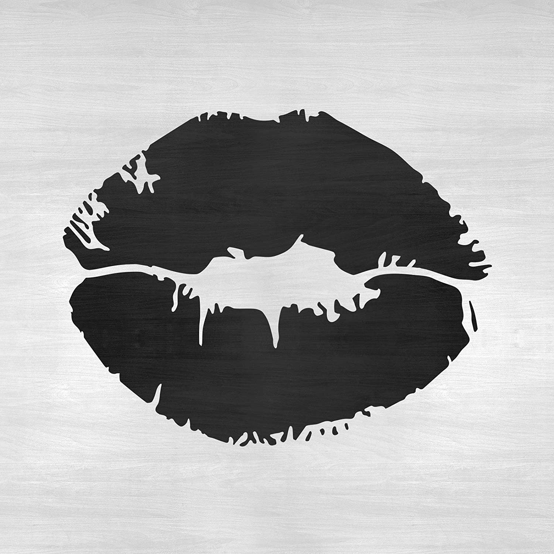 WS019862 Templates /'Biting Lips/' Wall Stencils