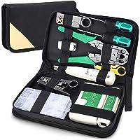 12-in-1 netwerkreparatieset, professionele kabeltester kit, netwerkgereedschapsset, opleggereedschapsset, patchkabel…