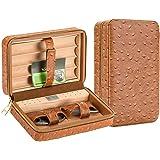 Scotte premium Cigar Humidors portable travel cigar humidor case for 4 cigar