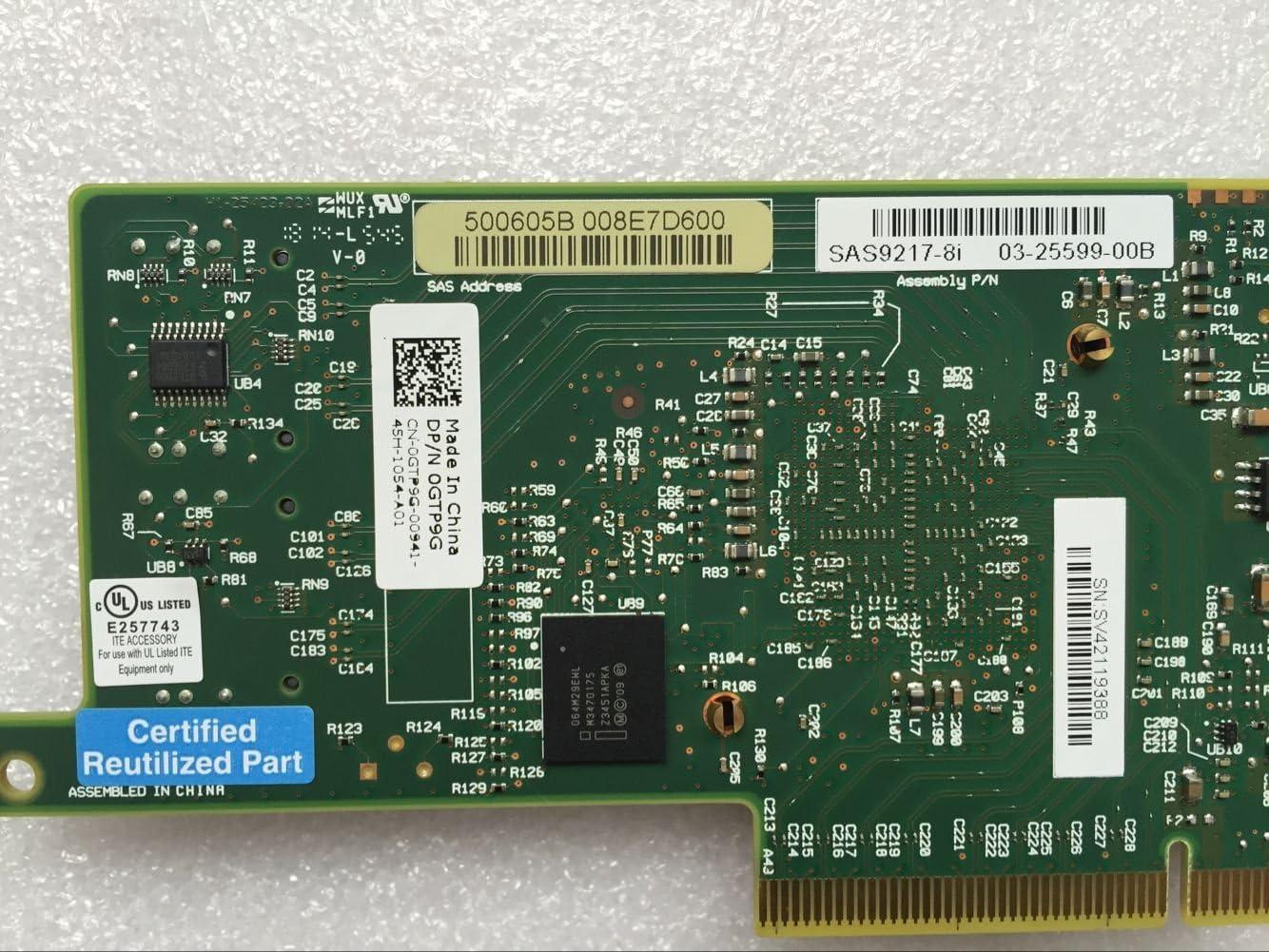 Dell//LSI SAS 9217-8i HBA 6GB//s PCI-e 3.0 x8 2X Internal Mini Ports Adapter