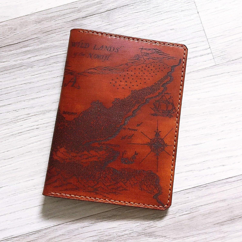 piece unique Leather wallet engraved wild