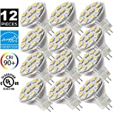 MR11 GU4.0 LED Bulbs, 12V AC/DC Flood Light Bulb, GU4 Base, 2W (20W Equivalent), 3000K (Soft White Glow) SANSUN LED Spot Light Bulb (Pack of 12)
