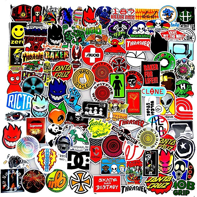 Original Cartoon Character Sticker Pack for Party Supplie,Imagination Creating,Teaching,Bicycle Waterbottle Laptop Trunk Skateboard Personal Object Patches Stickers Sanmatic Sticker Pack 100 Pcs