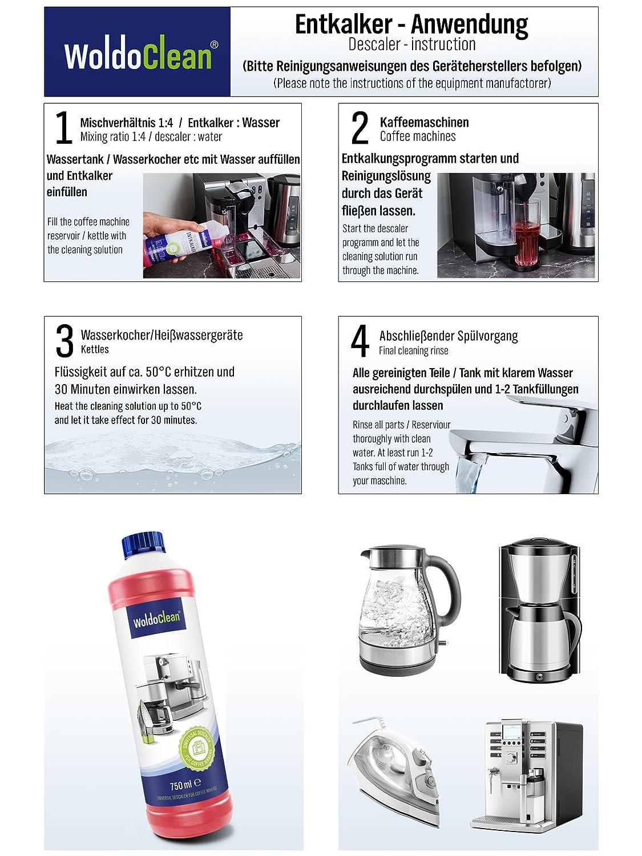 Descalcificador para cafetera concentrado liquido 3x 750ml - Compatible con marcas Delonghi, Dolce Gusto, Nespresso, Seaco, Krups Senseo: Amazon.es: Hogar