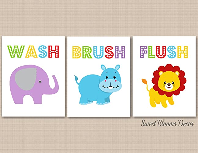 amazon kids bathroom wall art kids bathroom d cor animals