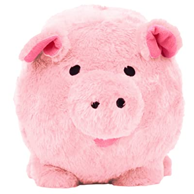 Oversized Pink Plush Piggy Bank