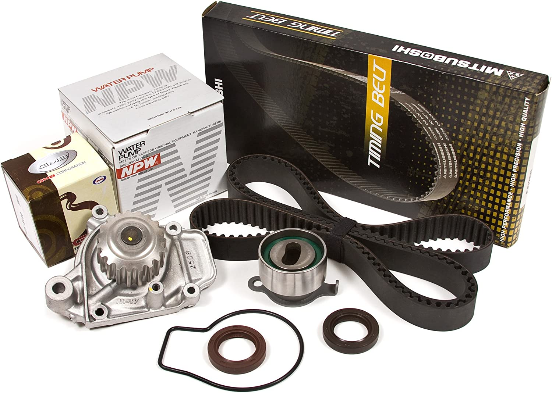 Fit 88-95 Honda Civic CRX 1.5L SOHC Mitsuboshi Timing Belt Kit D15B2 D15B7