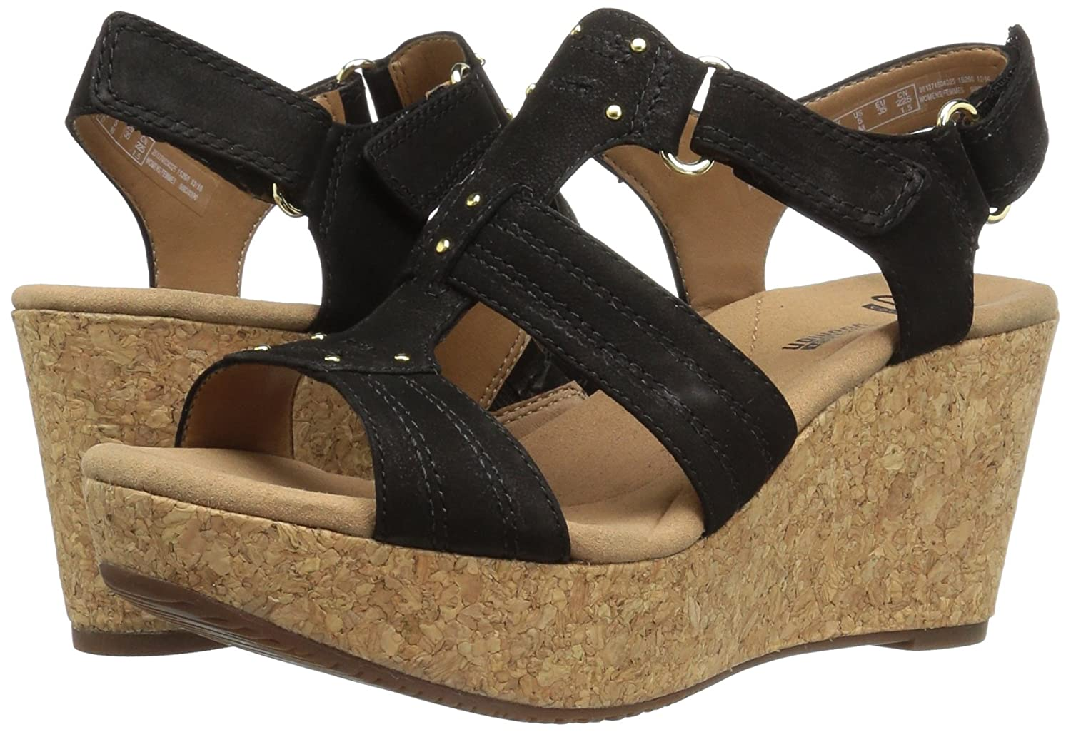 bc67f2f3c23 CLARKS Womens Annadel Orchid Wedge Sandal